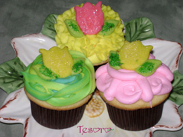 5 Cupcake ideas for Spring Party for Kids